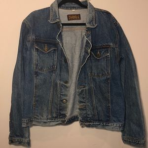 [Lucky Star] Vintage Distressed Jean Jacket